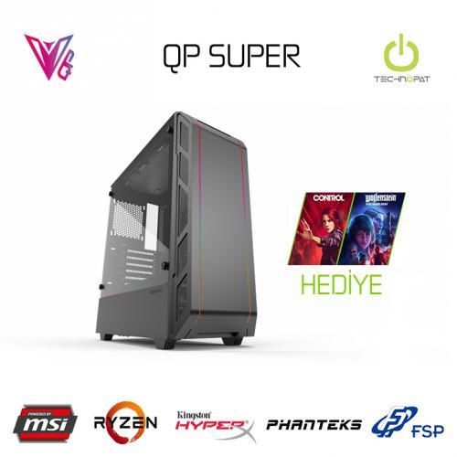 QP SUPER - R5 3600 / 16 GB / RTX 2060S 8GB / 480 GB SSD Oyun Bilgisayarı